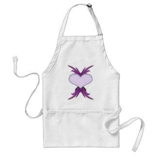 Corazón del lustre - púrpura/gris delantal