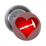 Corazón del martillo de la roca pin