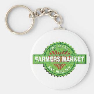 Corazón del mercado de los granjeros llavero personalizado