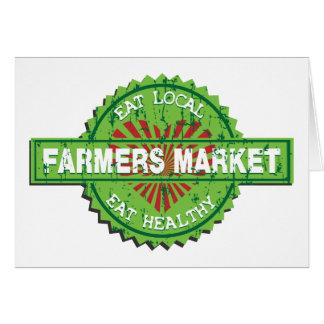 Corazón del mercado de los granjeros felicitaciones