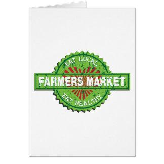 Corazón del mercado de los granjeros tarjeta