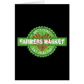 Corazón del mercado de los granjeros tarjetón