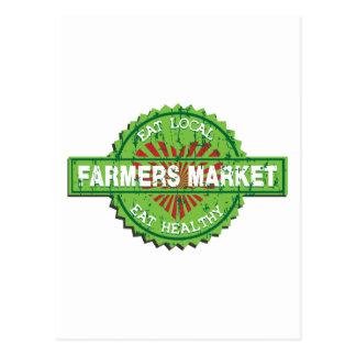 Corazón del mercado de los granjeros postales