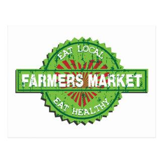 Corazón del mercado de los granjeros tarjeta postal