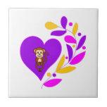Corazón del mono azulejo ceramica