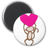 Corazón del mono imán para frigorifico