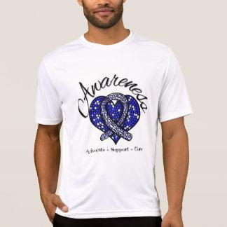 Corazón del mosaico de la conciencia del ALS Camisetas