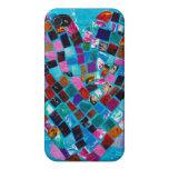 Corazón del mosaico iPhone 4 cárcasa