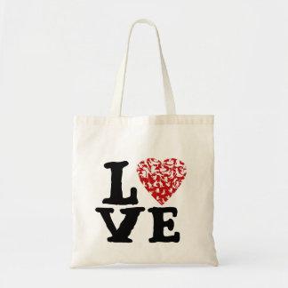 Corazón del movimiento el | del amor con las bolsa tela barata
