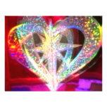Corazón del multicolor comunicado personalizado