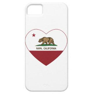 corazón del napa de la bandera de California iPhone 5 Cárcasa