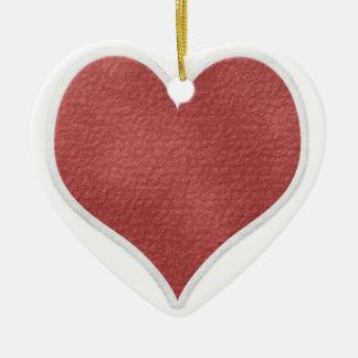 Corazón del navidad ornamentos de reyes
