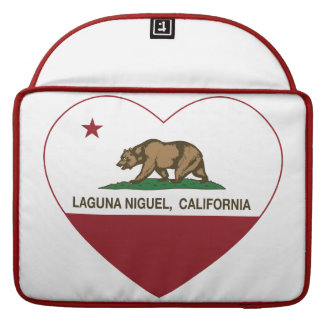 corazón del niguel de Laguna de la bandera de Cali Funda Para Macbook Pro