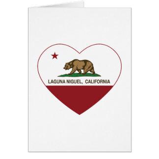corazón del niguel de Laguna de la bandera de Cali Tarjeta De Felicitación