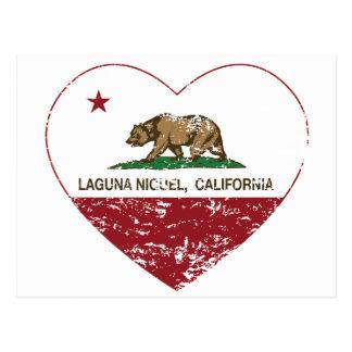 corazón del niguel de Laguna de la bandera de Postal
