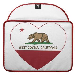corazón del oeste del covina de la bandera de Cali Fundas Para Macbook Pro