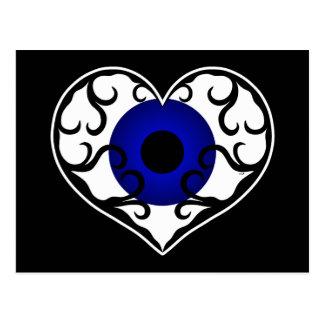 Corazón del ojo postal