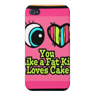 Corazón del ojo te amo como una torta de los amore iPhone 4 funda