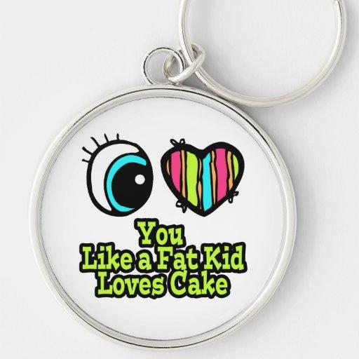 Corazón del ojo te amo como una torta de los amore llavero
