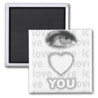 corazón del ojo usted imanes para frigoríficos