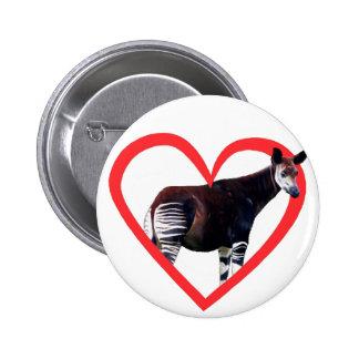 Corazón del Okapi Pins