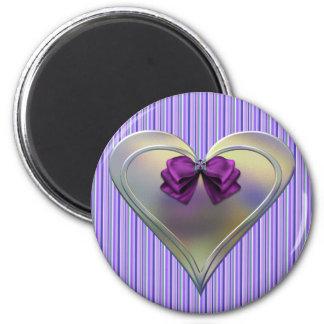 Corazón del ópalo imán redondo 5 cm