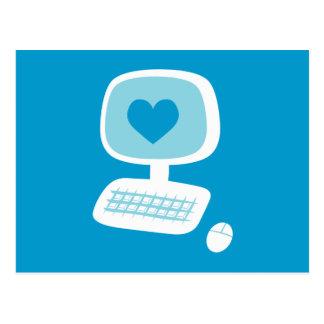 Corazón del ordenador postales