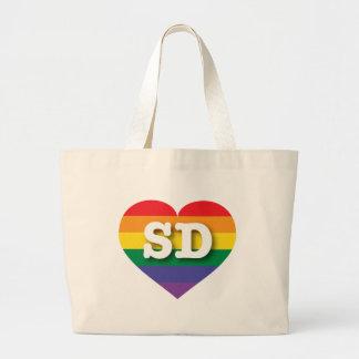 Corazón del orgullo del arco iris de Dakota del Bolsas