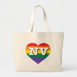 Corazón del orgullo del arco iris de Nevada Bolsas Lienzo