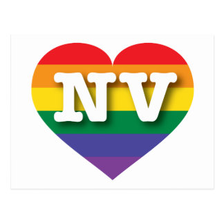 Corazón del orgullo del arco iris de Nevada Postal