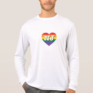 Corazón del orgullo del arco iris de New Jersey NJ Camiseta