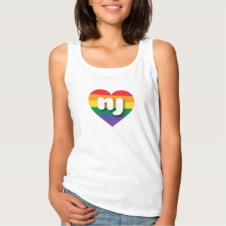 Corazón del orgullo del arco iris de New Jersey - Playera De Tirantes Básica