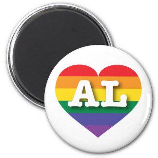Corazón del orgullo del arco iris del AL de Imán Redondo 5 Cm