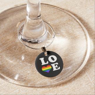 Corazón del orgullo gay del amor identificadores de copas