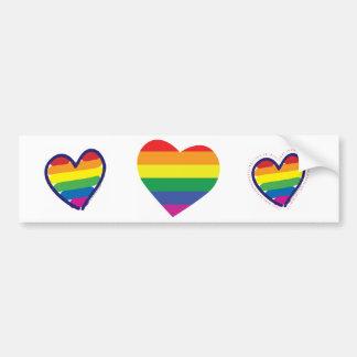 Corazón del orgullo gay pegatina para auto