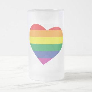 Corazón del orgullo gay taza de café