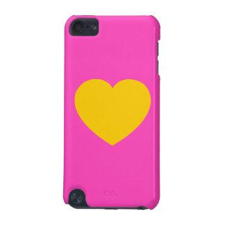 Corazón del oro amarillo funda para iPod touch 5G
