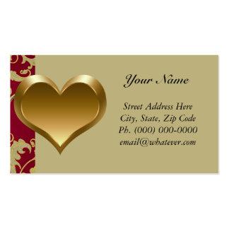 Corazón del oro tarjetas de visita