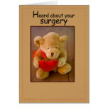 Corazón del oso de 3647 cirugías tarjeton