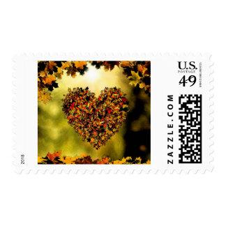 Corazón del otoño sello