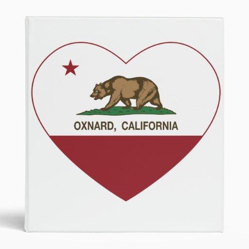 """corazón del oxnard de la bandera de California Carpeta 1"""""""