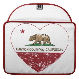 corazón del país del barranco de la bandera de Cal Fundas Para Macbook Pro