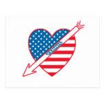 Corazón del patriota del tenis postal