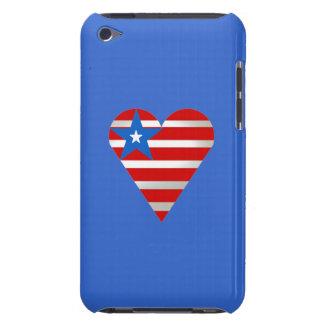 Corazón del patriota Case-Mate iPod touch cobertura