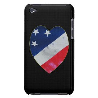 Corazón del patriota iPod Case-Mate carcasa