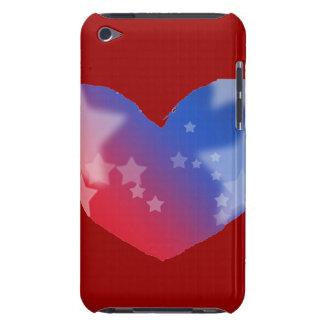 Corazón del patriota iPod Case-Mate fundas