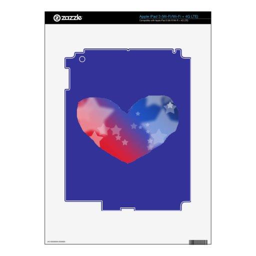 Corazón del patriota pegatinas skins para iPad 3
