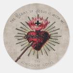 Corazón del pegatina de Jesús