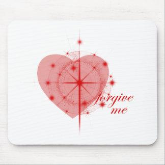 corazón del perdón alfombrilla de ratón