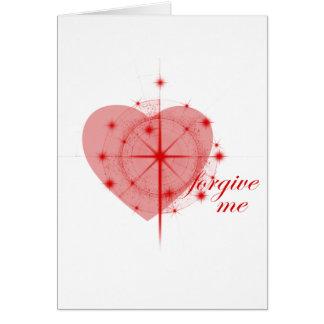 corazón del perdón tarjeta de felicitación